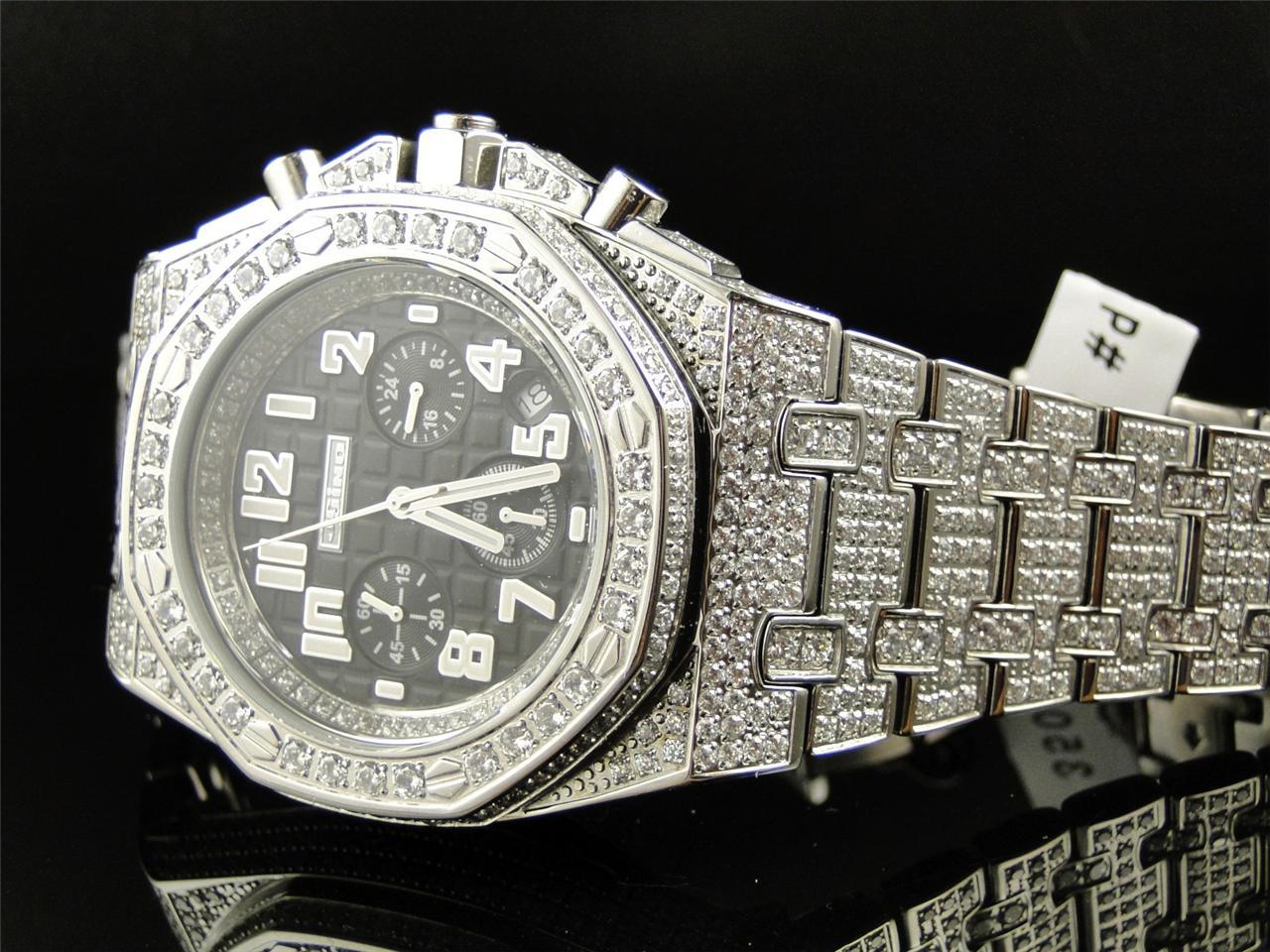 Sản Phẩm Mens Jojino By Joe Rodeo Simulated Diamond Watch Black Mj