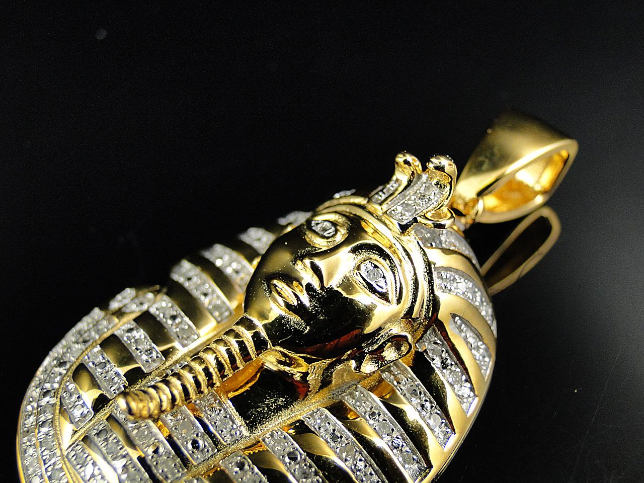 925 silver king tut tutankhamun real diamond pendant chain 925 silver king tut tutankhamun real diamond pendant chain yellow gold finish mozeypictures Gallery