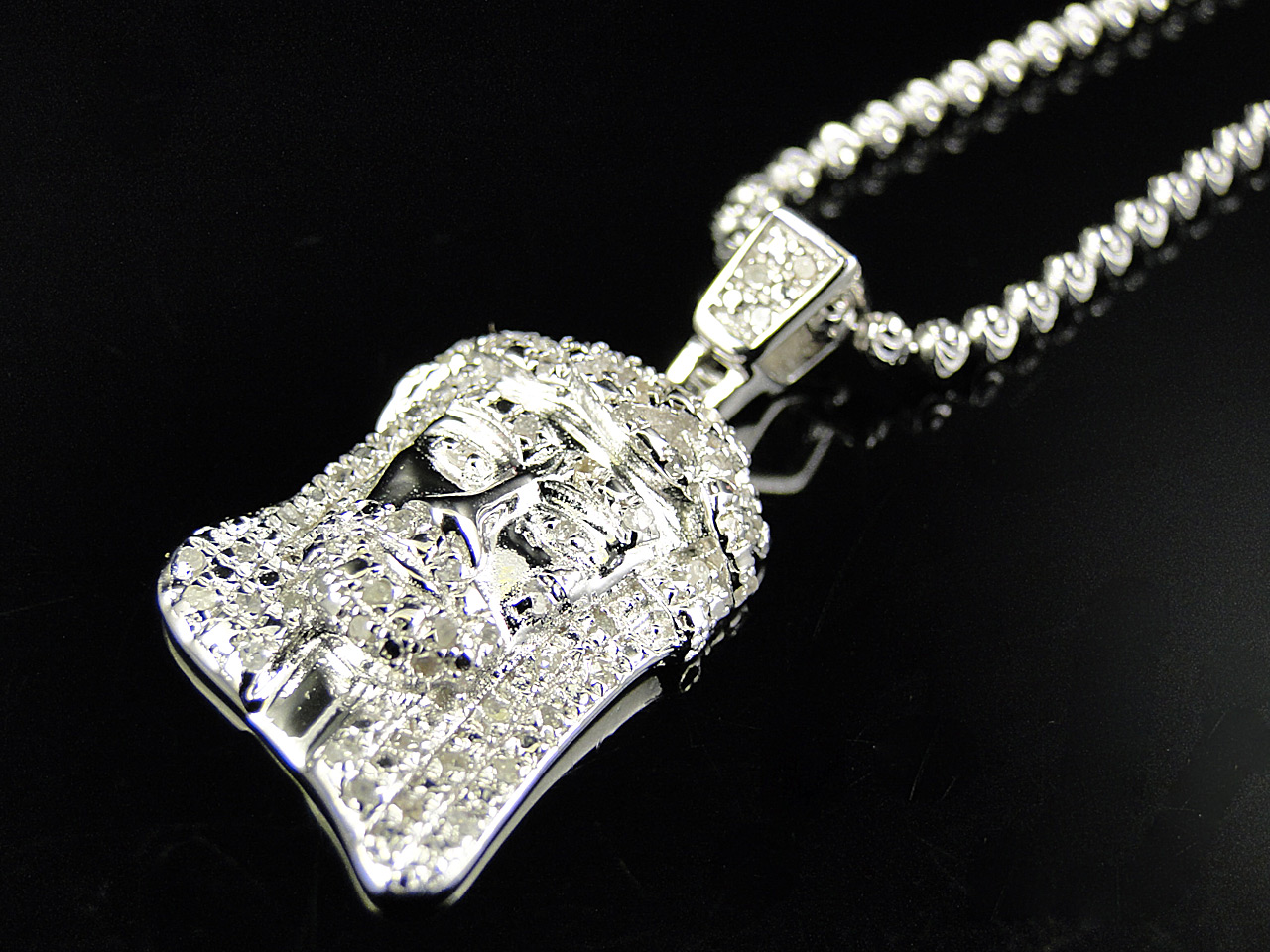 pendant piece diamond jesus luxurious inch
