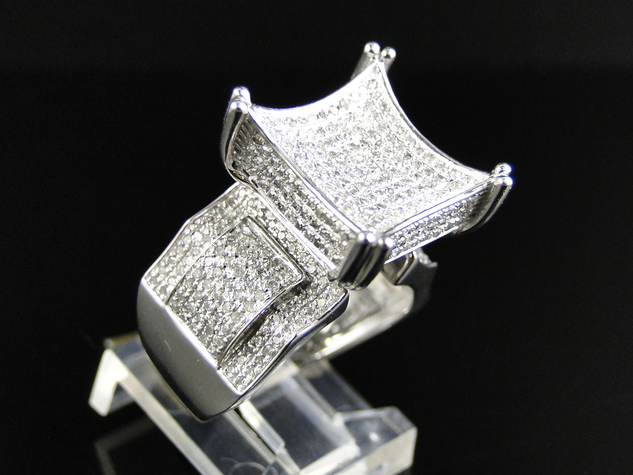 Pave Diamond Xl Fashion Rings For Cheap Round Cut Pave Diamond XL