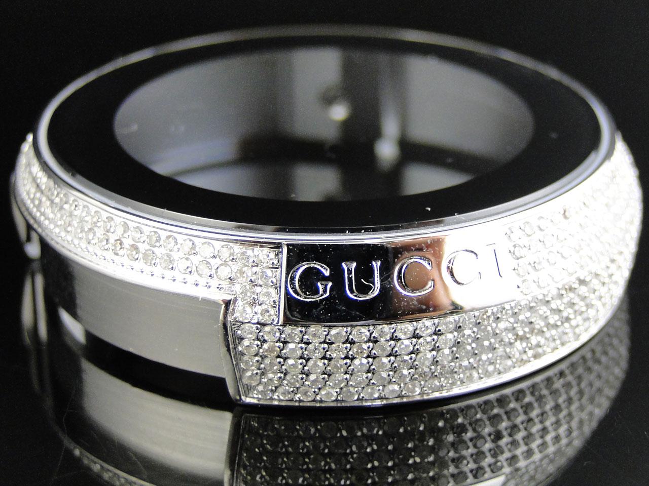 Custom Mens Gucci Diamond Case for I Gucci Digital Watch 40 Ct