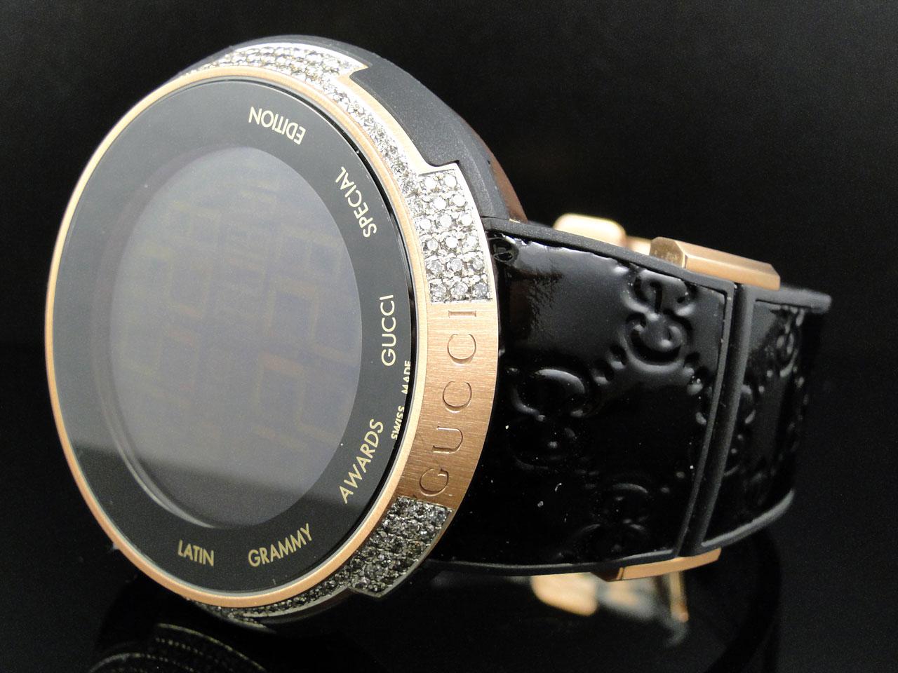 a4916c493d6 New Mens I Gucci Digital XXL Latin Grammy Rose Gold Diamond Watch 3 Ct  YA114102