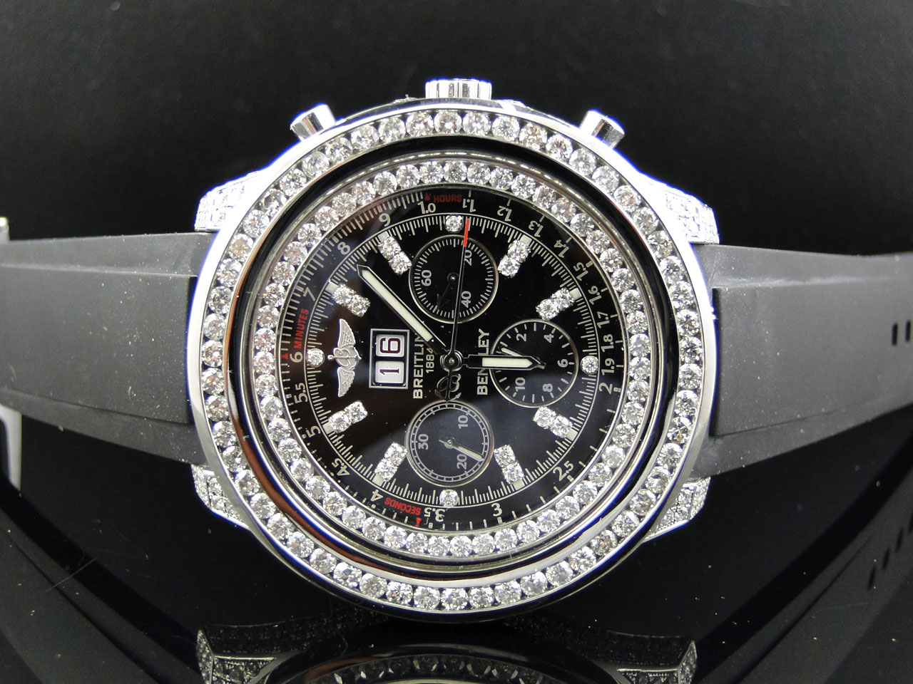 s price chronograph watches watch black bentley automatic breitling dial jomashop men