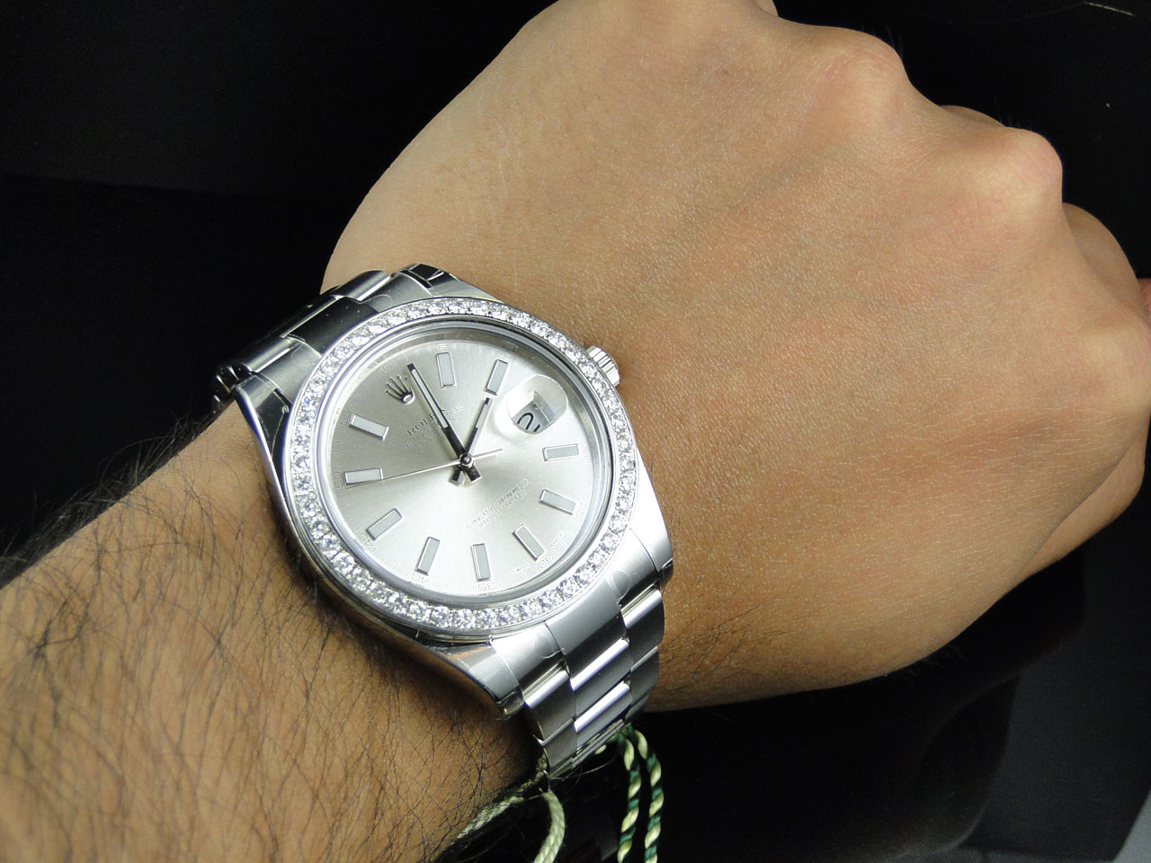 Brand new mens 41 mm rolex datejust 2 ii watch with diamond bezel 116300 ebay for Men decagonal bezel bracelet
