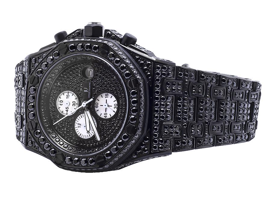 b16975a4891d8 Details about Mens Jewelry Unlimited Jojino Joe Rodeo Black Simulated  Diamond Watch 43MM