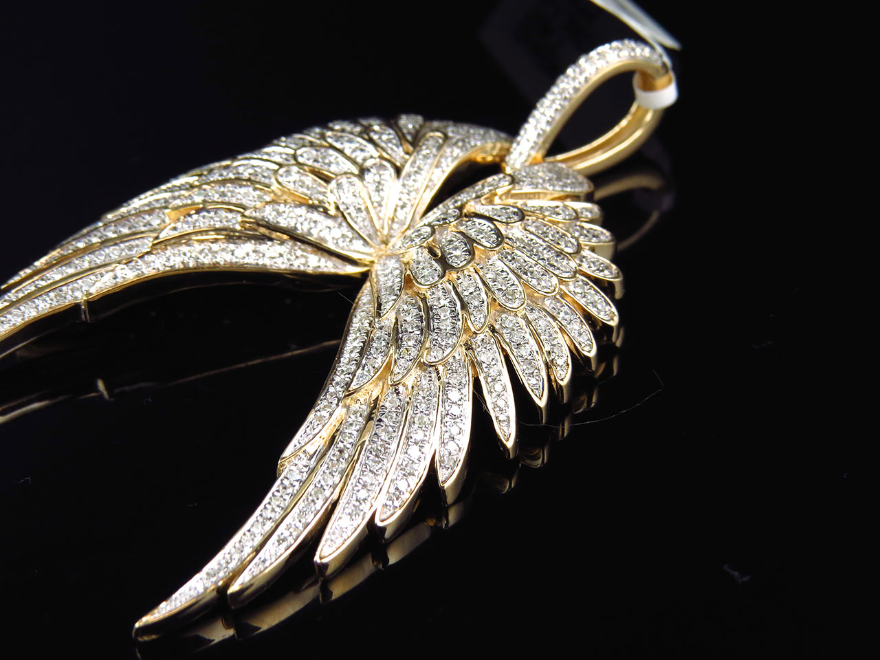 10k yellow gold genuine diamond floral angel wings pendant charm 10k yellow gold genuine diamond floral angel wings pendant charm 185ct 25 aloadofball Choice Image