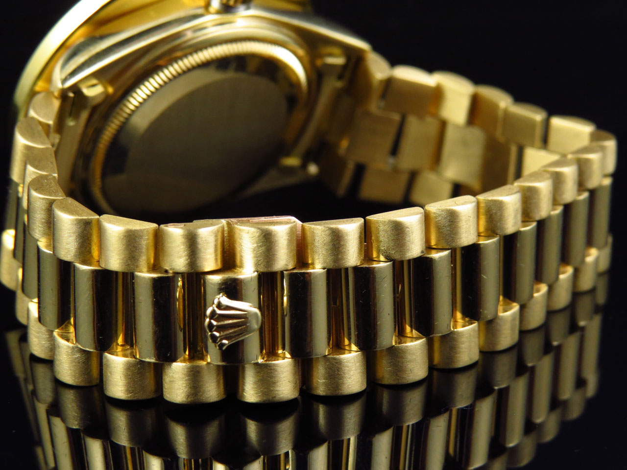 18k Yellow Gold Mens Large Diamond Solid Rolex President