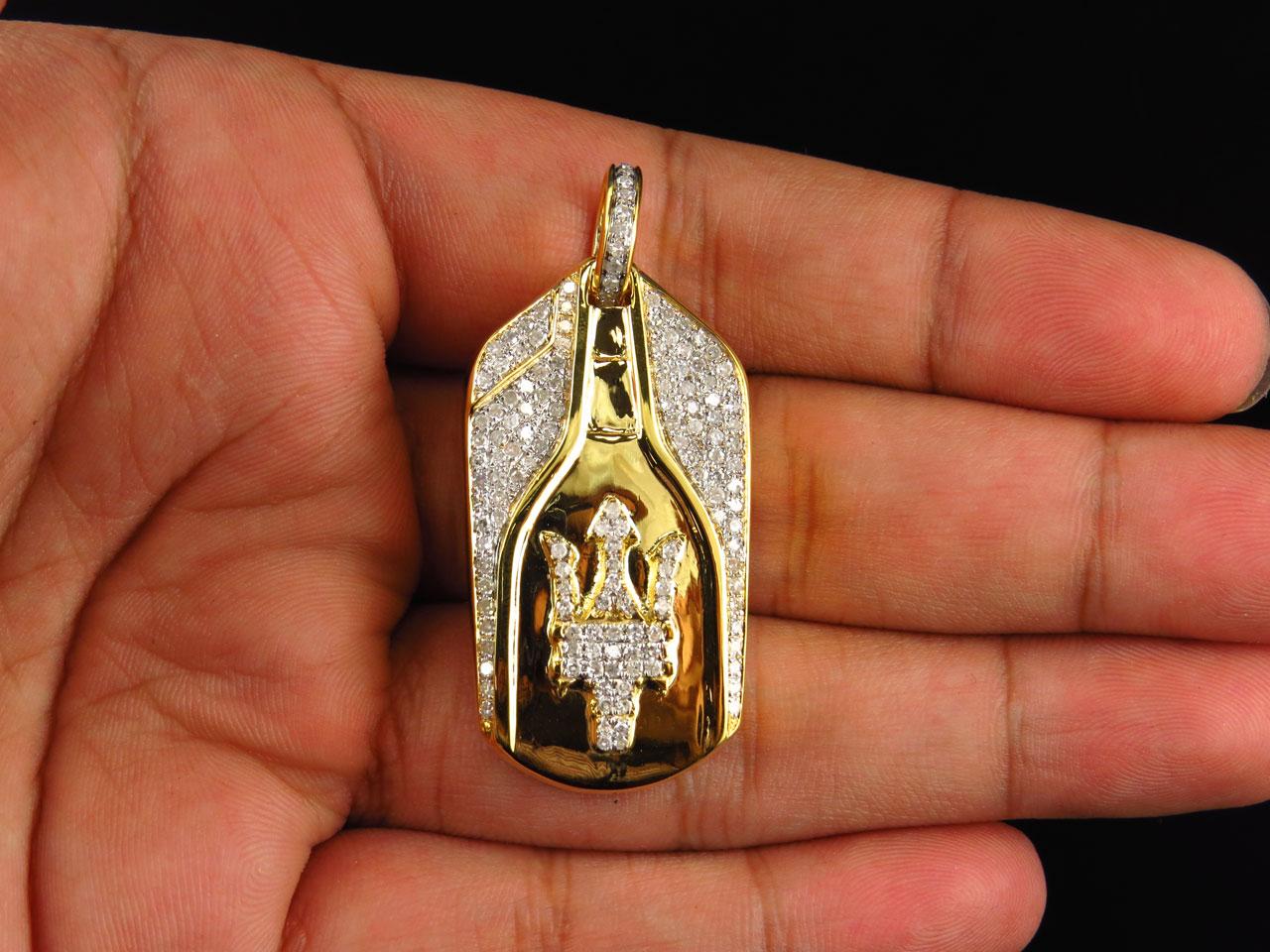 Mens solid 10k yellow gold maserati key diamond pendant 175 in mens solid 10k yellow gold maserati key diamond pendant 175 in charm 15 ct ebay aloadofball Gallery
