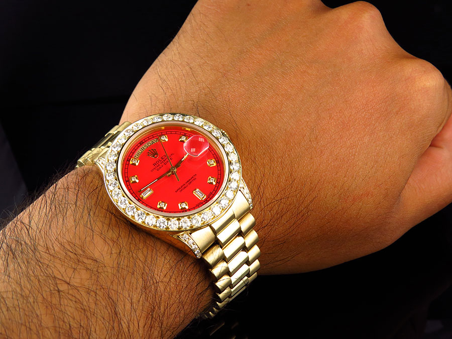 Men Diamonds Ring Rolex Style