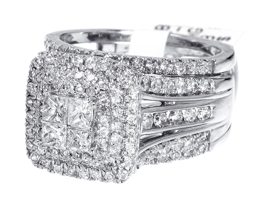 Details about Princess Cut Diamond Engagement Bridal Ring with Jacket ...
