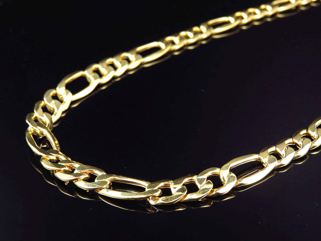 Italian Gold Chain >> Details About New Mens Genuine 10k Yellow Gold Italian Figaro Link Chain Necklace 9mm 24